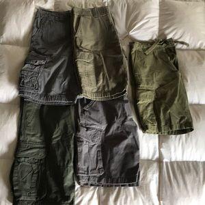 Men's cargo shorts .